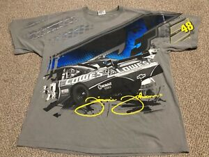 VTG 2008 JIMMIE JOHNSON CHASE NASCAR ALL OVER PRINT DOUBLE SIDED T SHIRT MENS XL