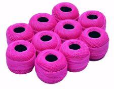 10 x 20 grams Lace Making Mercerized Cotton Yarn Tatting Thread Size 40 Pink
