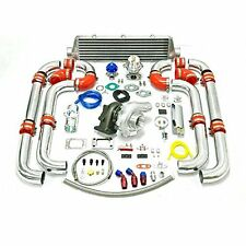 Universal Turbo T3/T4  Upgrade T04E T3 11pc Turbo Kit WITH Intercooler + install