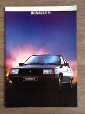 Renault 9 Original Folleto de rango de Reino Unido - 1984 (24 páginas)! como Nuevo!
