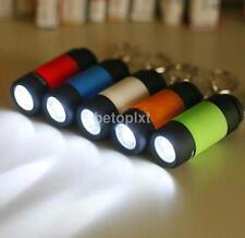 USB Rechargeable LED Light Flashlight Lamp Keychain Pocket Mini Torch Waterproof