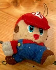 Super Mario Brothers Key-ring stuffed toy, retro, vintage.