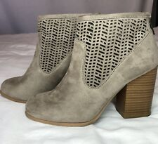 Coconuts By Matisse Booties Grey Size 6 1/2 Pre-owned