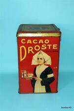 RARE LARGE TIN DUTCH HOLLAND DROSTE CACOA ADVERTISING HAARLEM
