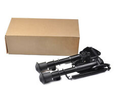 Tactical Rifle Bipod 6- 9 Inch Adjustable Spring Return with Adapter for Hunting
