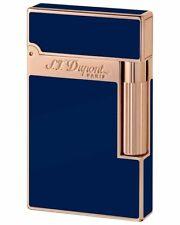 ST DUPONT LIGNE LINE 2 ROSEGOLD PINK GOLD LIGHTER BLUE LACQUER #ST016496 16496
