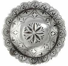 "Western Equestrian Cowboy Tack Set of 6 Antique Silver Windrose 1"" Conchos"
