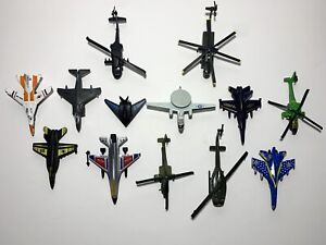 Lot Of 13  Airplanes & Helicopters Army Navy - Sold As Is - Diecast & Plastic