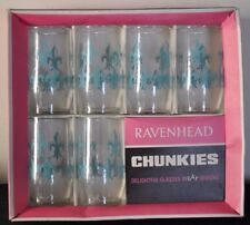 Ravenhead Glass 'Chunkies' x6 A. Hardie Williamson 1960s Fleur de Lys