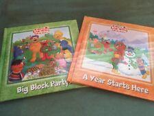 New Sesame Street Elmo's Learning Adventure (2) Bert & Ernie Hardcover Books