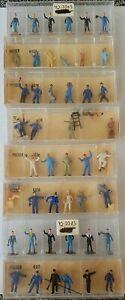8 vintage sets PREISER HO scale Workers/people