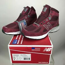 New Balance 990V4 Mid Mens Hiking Trail Boots Burgundy M0990BU4 Various Sizes