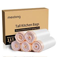 meidong Trash Bags, Garbage Bags 13 Gallon Large Tall Kitchen Drawstring Strong