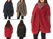Wool Patternless Casual Coats & Jackets for Women