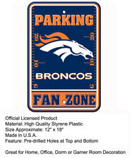 Denver Broncos Fan Only Parking Sign 12x18 NFL