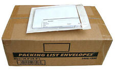 10000 Clear Packing List Invoice Envelopes 4.5x5.5 (SUPER STICKY) 2.5mil  FAST