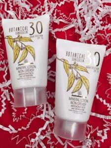2x AUSTRALIAN GOLD Botanical Sunscreen Mineral Lotion SPF30 1oz Each, Exp: 7/21