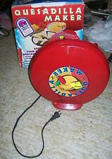 RED Salton Taco Bell Quesadilla Maker Kitchen Appliance w/Manual;Mexican Cooking