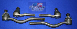 FORD 1965-1966 Mustang V8 Manual Steering Inner and Outer Tie Rod End Set 65 66