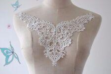 Off White Bridal Lace Applique V Neck Venice Appliques Guipure Sewing patch