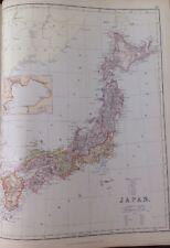 Japan  1882 Antique Map W.G. Blackie Atlas
