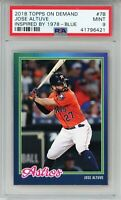 JOSE ALTUVE 2018 Topps On Demand Inspired '78 BLUE #7B (Astros) PSA 9 MINT #/50