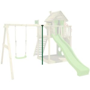 FATMOOSE FireSlider Feuerwehrstange Spielturm Kletterturm Zubehör Garten Metall