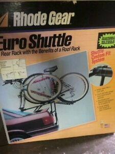 """New RHODE GEAR Euro Shuttle """"Rear Rack with the Benefits of a Roof Rack"""" 2-Bike"""