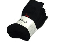 New Pringle Trouser Socks 8 Pairs Fits Uk Size 7-11.EUR 40-46 All Black New Mens