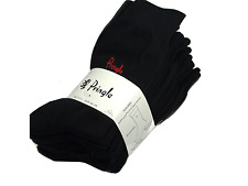 New Pringle Trouser Socks 8 Pairs Fits Uk Size 7-11.EUR 40-46 All Black New Mens