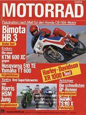 Motorrad 25 83 7.12.1983 Test Harley XR1000 Bimota HB3 Husqvarna 510TE KTM 600XC