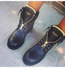 BALMAIN Taiga Ranger ankle boots Uk3-4 US6.5 New