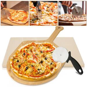 Pizzastein Deluxe Pizzaschaufel Set Schaufel Profi Backstein Gasgrill Cordierit