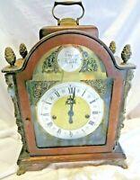 Hermle Tempus Fugit Wood Mantel Clock Franz Hermle Movement Germany