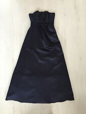 BNWT BHS WEDDING COLLECTION IRIS ORIGAMI LONG A-LINE NAVY DRESS SIZE 10