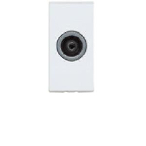 MK K5851 SNS Single TV Co-Axial Euro Module, 1 Mod 25x50mm White