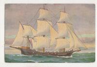 Christopher Rave French Warship Polacre 18th Cen. Vintage Art Postcard US067