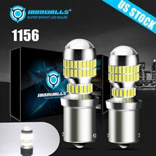 2pcs Ironwalls 1156 Led Reverse Light Backup Bulbs 6500k White Parking Drl Lamp