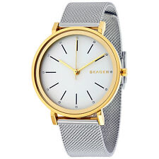 Skagen Hald Silver Dial Steel and Yellow Gold PVD Ladies Watch SKW2508