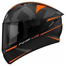 Casco integrale moto KYT NFR NF-R  Logos nero opaco arancione helmet Taglia M