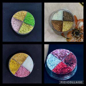 4 in 1 Pressed Satin Shimmer Creamy Mettalic Glitter Pigment Pallete Mini Pot