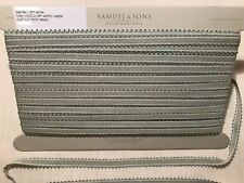 "SAMUEL & SONS 1/2"" Picot Braid CUSTOM Passementerie Trim Off White Lt. Green BTY"