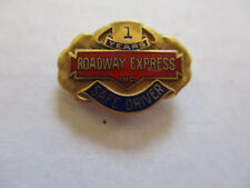 vintage Roadway Express 1yr Trucker Trucking Safety Award Safe Driving Pin