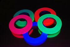 5 Pack Half Inch Blacklight Reactive Fluorescent Gaffer Tape 5 Rolls x 45 Yards