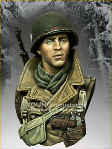 young miniatures siege of bastogne  resin  bust kit military 1/10 scale ym1883