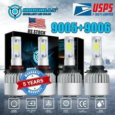 9005+9006 CREE LED Headlight 6000K 4000W 600000LM Total Combo Hi-Low Beam White
