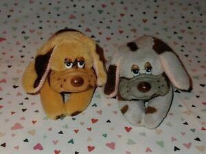 2 Vintage Pound Puppies Clone? Miniature Plush Puppies Grabbers Korea #2