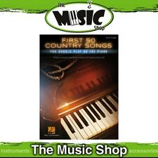 New First 50 Country Songs You Should Play on the Piano Music Book - Easy Piano