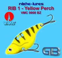 Cicaden, Yellow Perch, Kunstköder original RIBCHE LURES, VMC 9908 BZ 8g - 20g