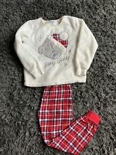 Girls Fluffy Tatty Teddy Pjs Pyjamas
